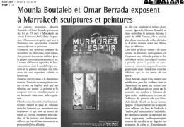 Mounia Boutaleb et Omar Berrada chez Almazar Art Gallery